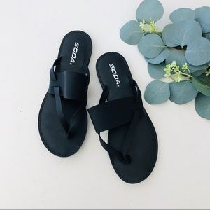 SODA Thong Slip On Sandals